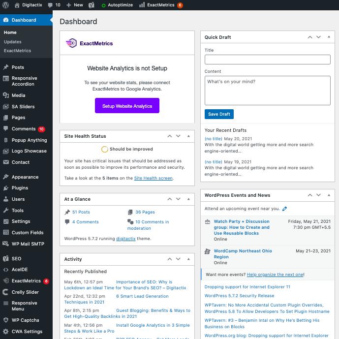 Wordpress CMS Panel